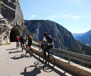 Cycling above the canyon of the river Cetina